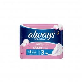 Always Ultra Sensitive Дамски превръзки нощни 7 броя