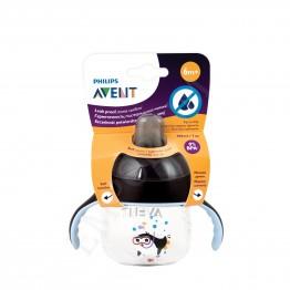 Philips Avent Чаша 200 мл, черна, 6м.+ пингвин мек накрайник SCF 751/03