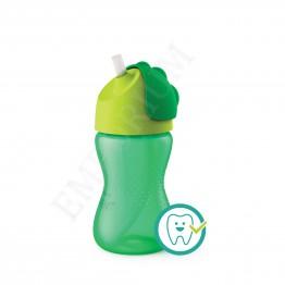 Philips Avent Чаша със сламка 300мл, зелена, 12м+ SCF 798/01