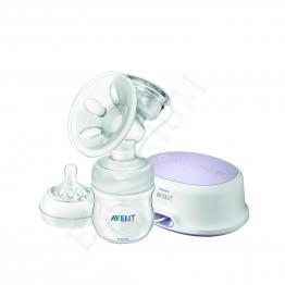 Philips Avent Електрическа помпа за изцеждане, бутилка Natural 125 мл+биберон SCF 332/01