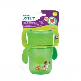 Philips Avent Преходна чаша с дръжки 260 мл, зелена, 9м+  SCF 782/00