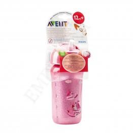 Philips Avent Термоизолирана чаша със сламка 260мл, розова, 12м+ SCF 766/00
