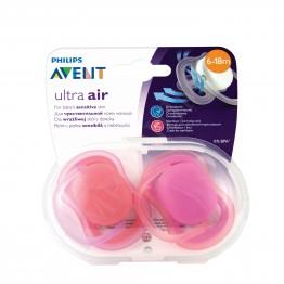 Philips Avent Ортодонтични залъгалки Ultra Air, момиче, 6-18м., 2бр. SCF245/22