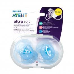 Philips Avent Ортодонтични залъгалки Ultra Soft, космос, 0-6м., 2бр. SCF 222/20