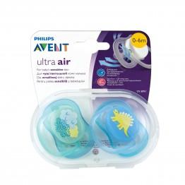 Philips Avent Ортодонтични залъгалки Ultra Air, динозавър, 0-6м., 2бр. SCF344/20