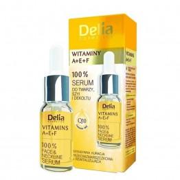 Delia / Делиа Серум Витамини А+E+F - за лице и деколте