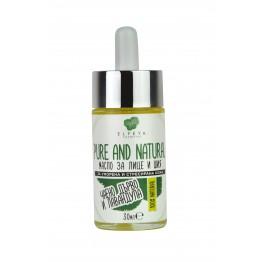 Pure and Natural Разкрасяващо масло за Лице и Шия с аромат на Чаено дърво, Лавандула и Иланг иланг 30мл.
