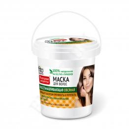 Fito cosmetic Възстановяваща Маска за Коса Народни Рецепти с Овес 155мл