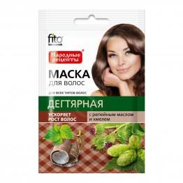 Fito cosmetic Маска за Коса Народни Рецепти с Катран за Растеж 30мл