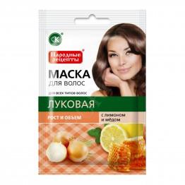 Fito cosmetic Маска за Коса Народни Рецепти с Лук за Растеж 30мл