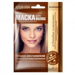 Fito cosmetic  Възстановяваща Маска за Коса Крем Къна  30мл