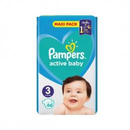 Pampers Active Baby Бебешки памперси VPP s3 Midi (6-10кг)-66 бр.