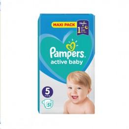 Pampers Active Baby Бебешки памперси VPP s5 Junior (11-16кг)-51 бр.