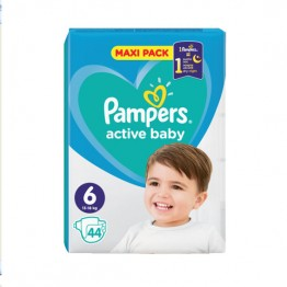 Pampers Active Baby Бебешки памперси VPP s6 XL (13-18кг)-44 бр.