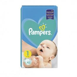 Pampers Newborn  Бебешки памперси  S1 (2-5кг.) 43бр.