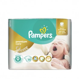 Pampers Premium Care CP S0 New Born Пелени за бебета 1-2,5 кг -30 бр