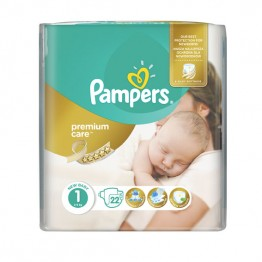 Pampers Premium Care SMP S1 New Born Пелени за бебета 2-5 кг -22 бр