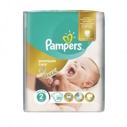 Pampers Premium Care SMP S2 Mini  Пелени за бебета 3-6 кг -20 бр