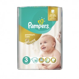 Pampers Premium Care SMP S3 Midi  Пелени за бебета 5-9 кг -20 бр