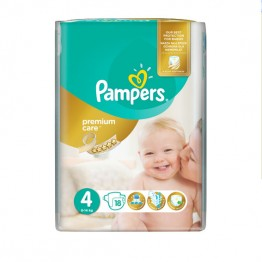Pampers Premium Care SMP S4  Maxi  Пелени за бебета 8-14кг -18 бр