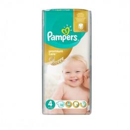Pampers Premium Care VP  S4 Maxi Пелени за бебета 8-14кг -52 бр