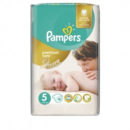 Pampers Premium Care SMP S5 Junior Пелени за бебета 11-18кг -18 бр