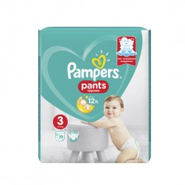Pampers Бебешки памперси-гащи SMP S3 MIdi (6-11кг)-19бр.