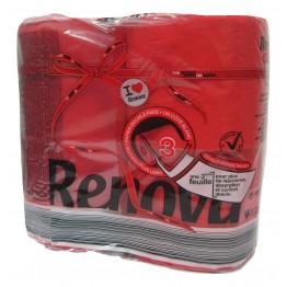 Renova Тоалетна хартия - Червена